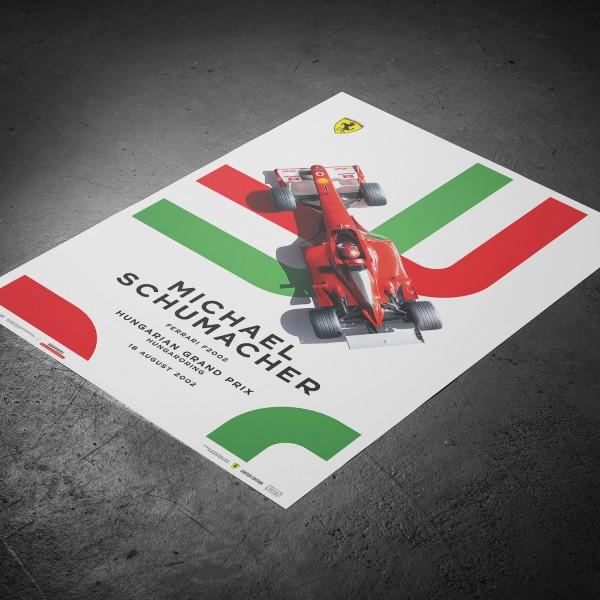 Poster Michael Schumacher - Ferrari F2002 - Hungarian GP 2002