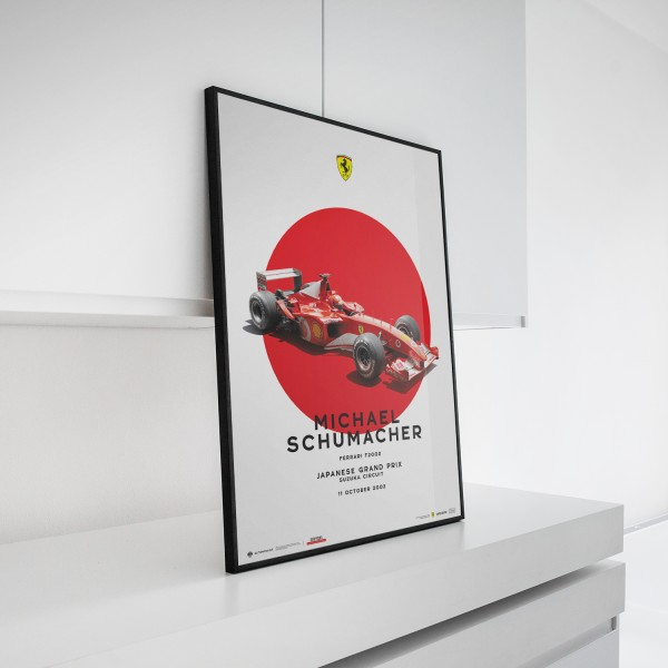 Poster Michael Schumacher - Ferrari F2002 - Japan GP 2002