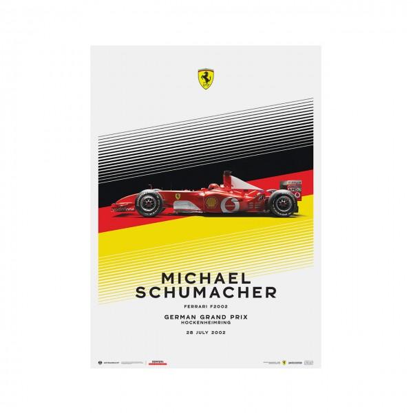 Affiche Michael Schumacher - Ferrari F2002 - Allemagne GP 2002