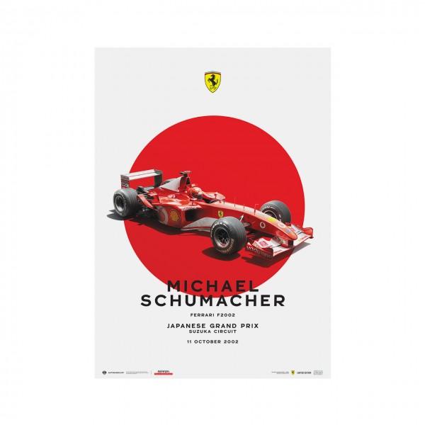 Affiche Michael Schumacher - Ferrari F2002 - Japon GP 2002