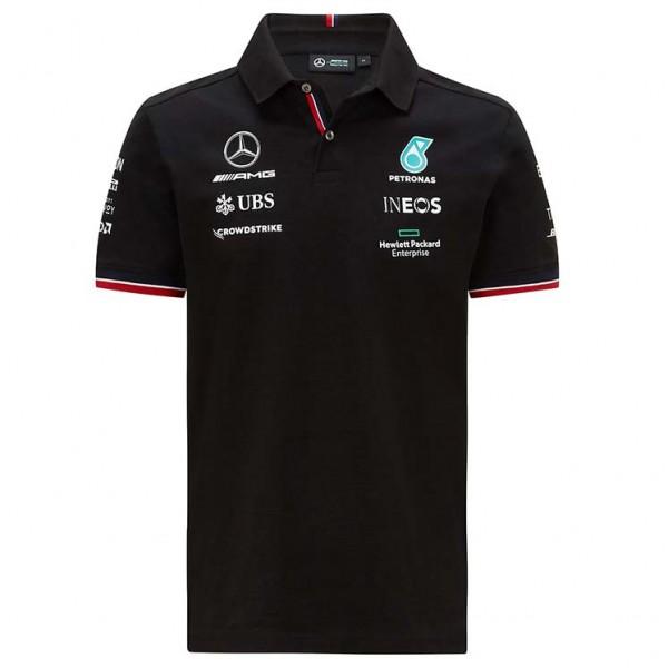 Mercedes-AMG Petronas Team Sponsor Poloshirt 2021 black
