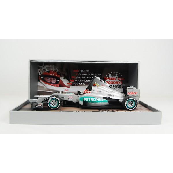 Michael Schumacher Mercedes GP W03 2012 Last Race 1:18