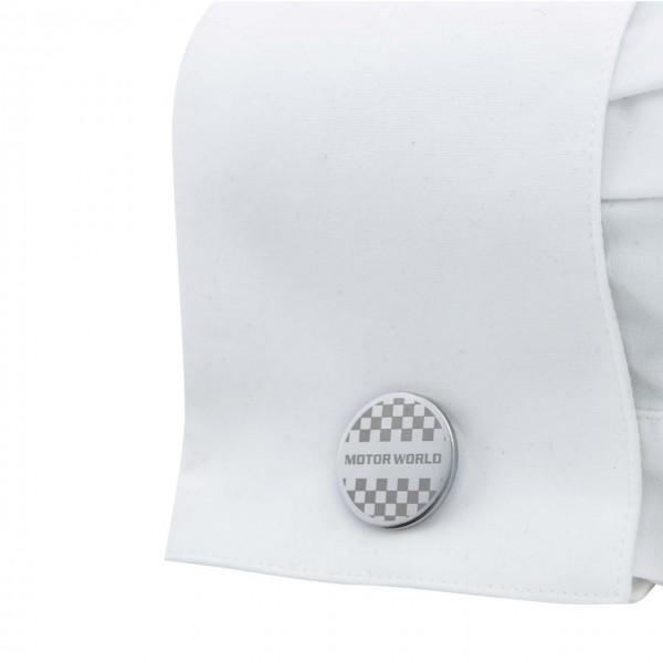 Motorworld Cufflinks Chequered Flag