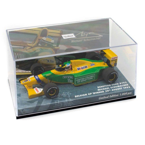 Michael Schumacher Minichamps Benetton Ford B192 box