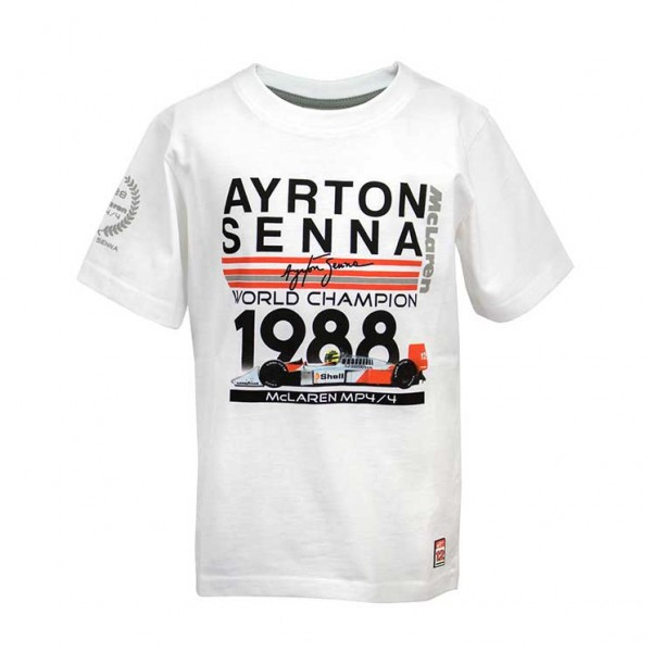 Ayrton Senna Kids T-Shirt World Champion 1988 McLaren