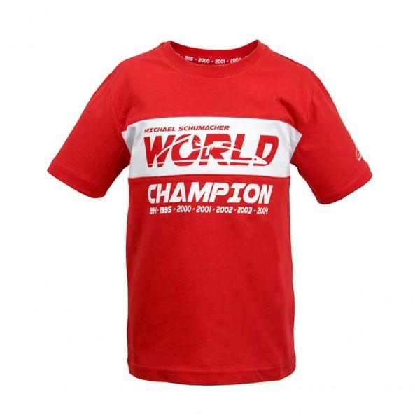 Michael Schumacher Kids T-Shirt World Champion rot