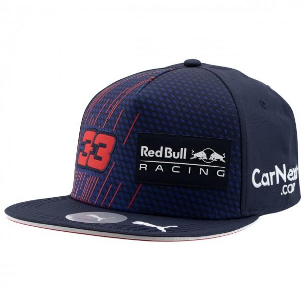 Red Bull Racing Driver Cap Verstappen Flat Brim 2021 navy blue
