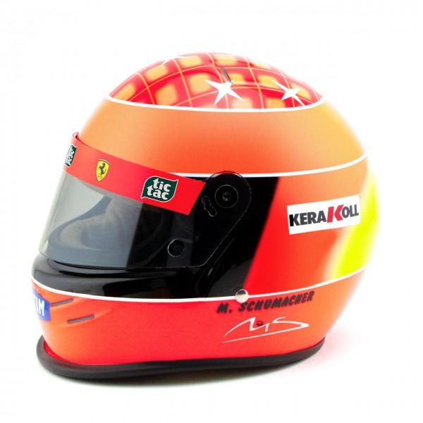 Michael Schumacher Casco Ferrari F1 Campione del mondo 2000 1/2