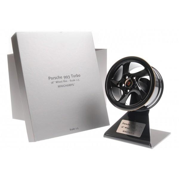 Porsche 993 Turbo 2019 Wheel Rim Black/Gold 1/5