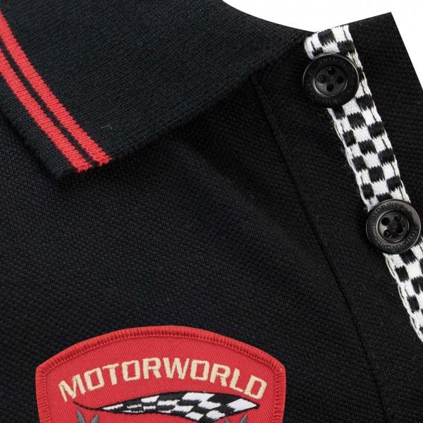 Motorworld Polo Shirt Chequered Flag
