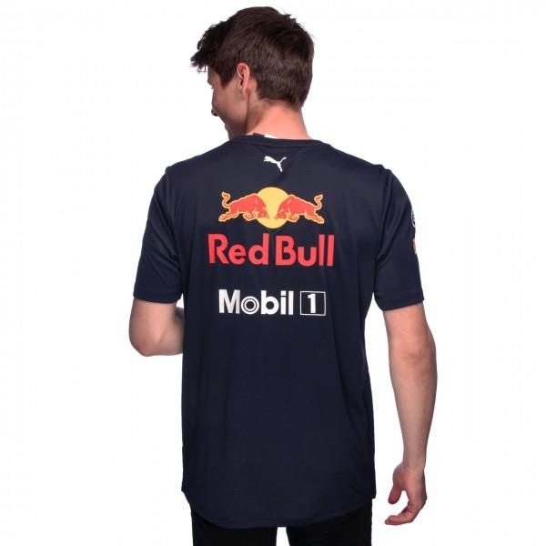 Red Bull Racing Team Sponsor Polo Shirt navy blue
