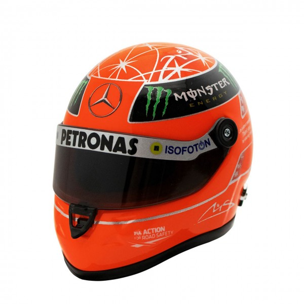 Michael Schumacher Final Helm GP Formel 1 2012 1:4