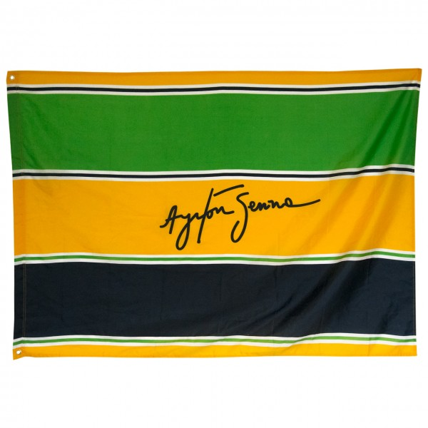 Ayrton Senna Flag Sempre