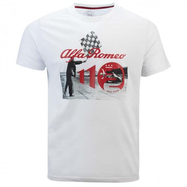Alfa Romeo Lifestyle 110 T-shirt Anniversary Race white