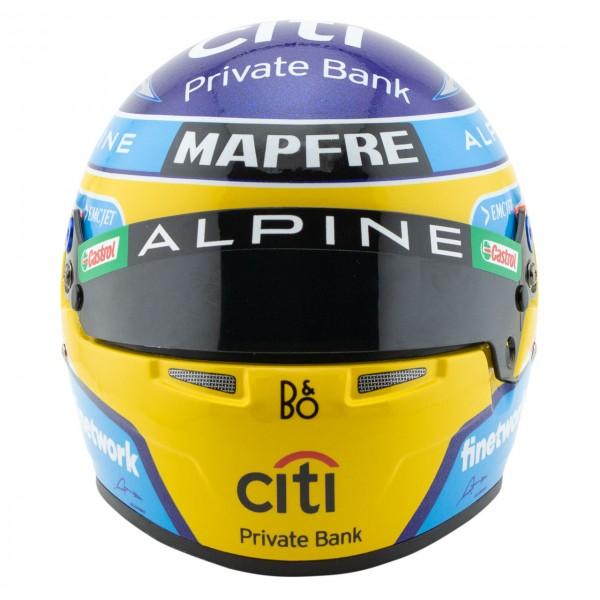 Fernando Alonso miniature helmet Formula 1 2021 1/2
