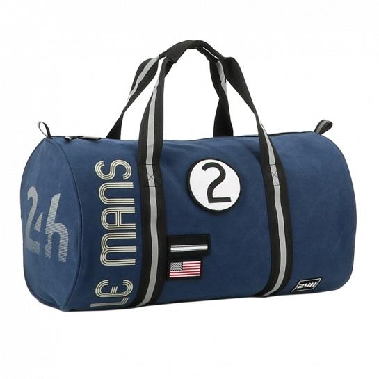 24h Race Le Mans Duffel Bag blue