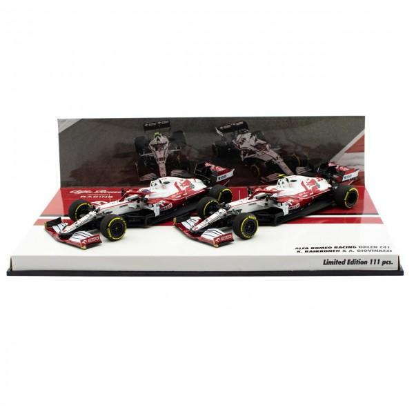 Alfa Romeo Racing 2021 ORLEN C41 Räikkönen / Giovinazzi double set Limited Edition 1/43