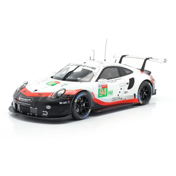 Porsche 911 (991) RSR #94 24h LeMans 2018 Dumas, Bernhard, Müller 1/18