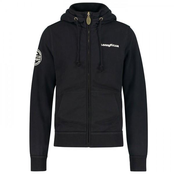 Goodyear Hooded sweat jacket Richmond black