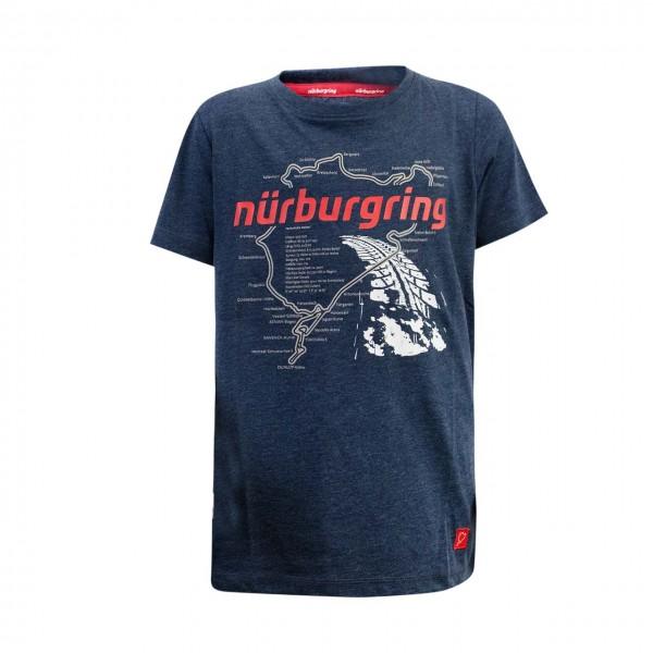 Nürburgring Kids T-Shirt Nordschleife blue