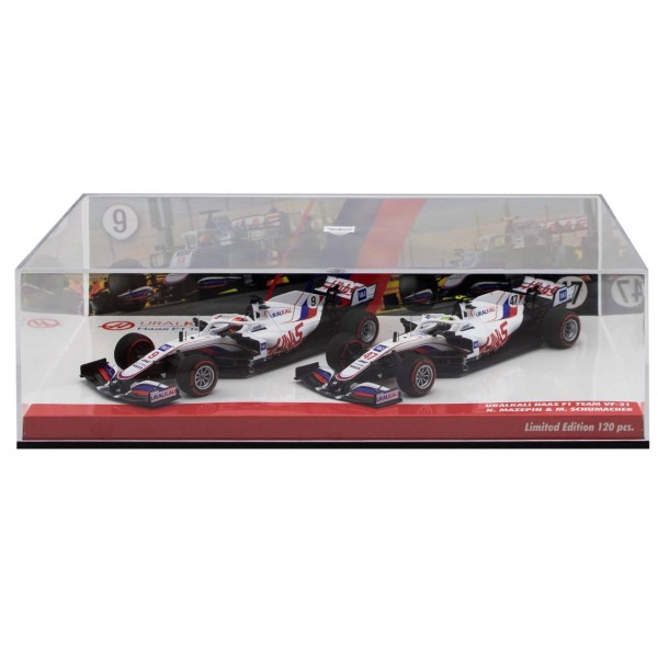 Uralkali Haas F1 Team 2021 Schumacher / Mazepin Doble juego Edición limitada 1/43