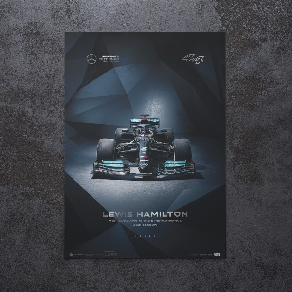 Poster Mercedes-AMG Petronas F1 Team -  Lewis Hamilton - 2021