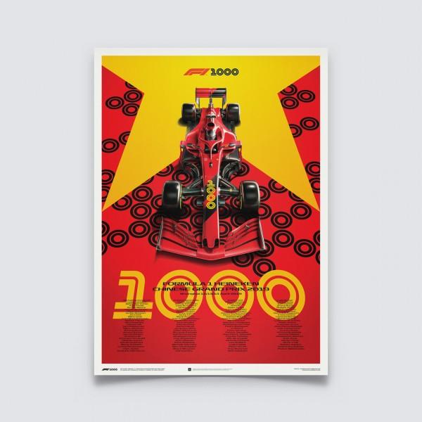 Poster Formula 1 - Chinese Grand Prix 2019 - Ferrari Edition