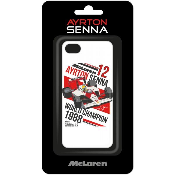 Ayrton Senna Schutzhülle McLaren iPhone 7 weiß