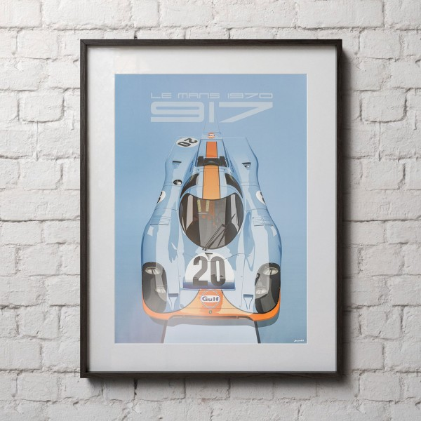 Poster 24h Race Le Mans - Porsche 917 - Gulf