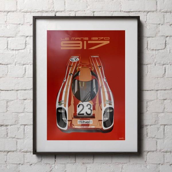 Poster 24h Race Le Mans - Porsche 917 - Salzburg
