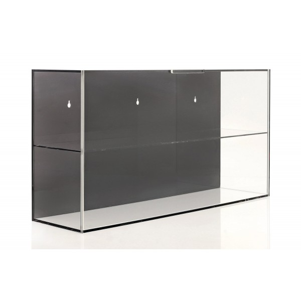Display case for 1/2 scale helmets or 1/18 scale model cars black