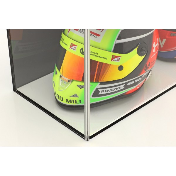 Vitrine für Helme im Maßstab 1:2 oder Modellautos im Maßstab 1:18 schwarz