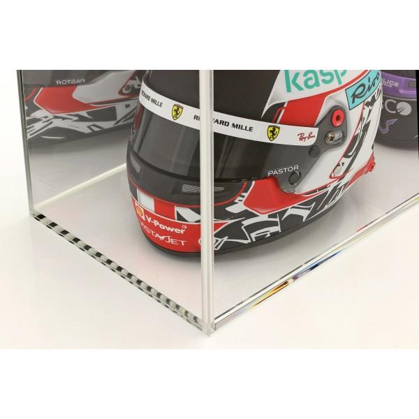 Vitrina para cascos a escala 1/2 o maquetas de coches a escala 1/18 espejo