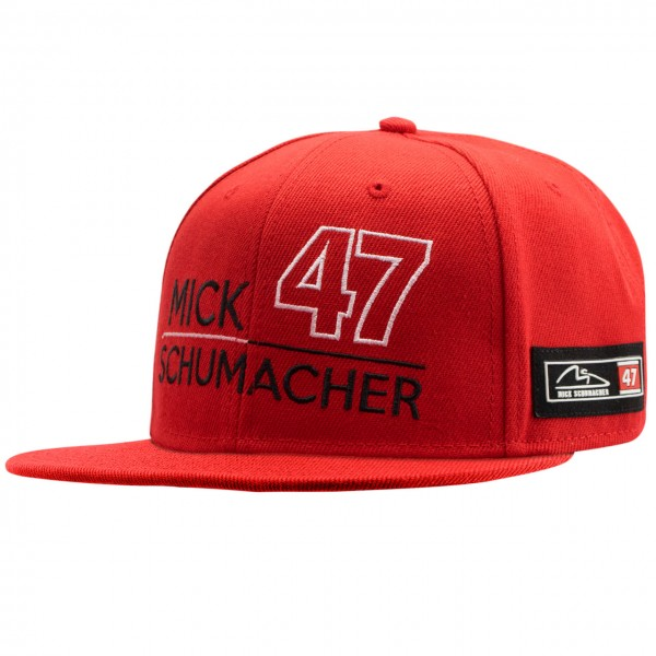 Mick Schumacher Casquette 47 rouge
