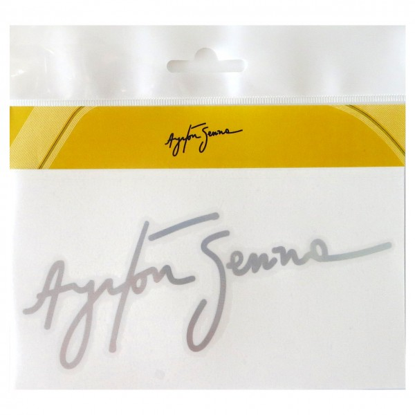 Ayrton Senna Sticker Signature silver