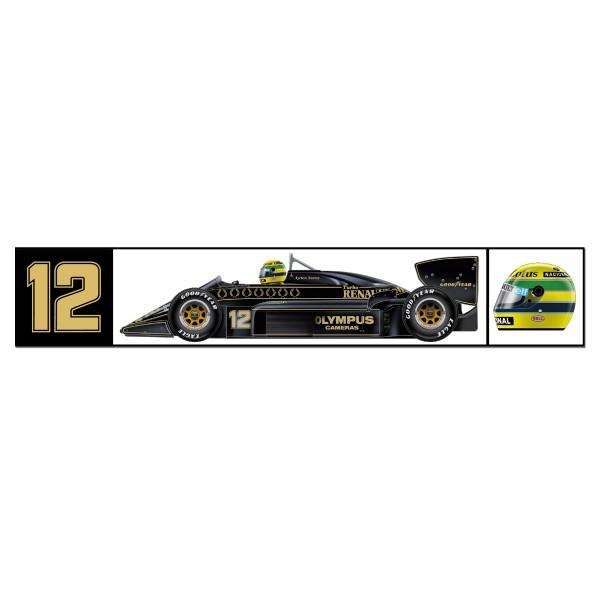 Ayrton Senna Lotus Sticker