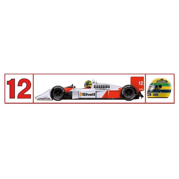 Ayrton Senna McLaren Mp4/4 Sticker