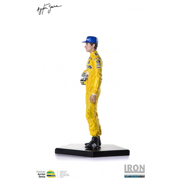 Ayrton Senna Iron Studios Monaco 1987 left side