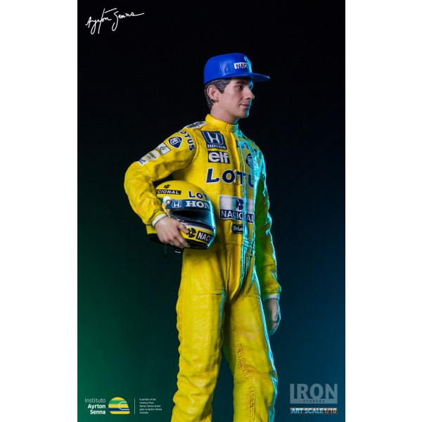 Ayrton Senna Iron Studios Monaco 1987 full model detailed