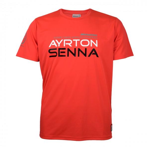 Ayrton Senna Kinder T-Shirt Three Times World Champion