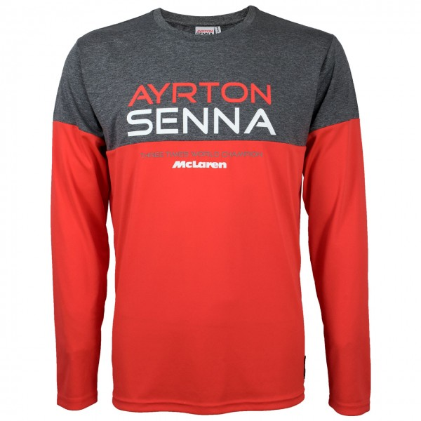 Ayrton Senna Longshirt Three Times World Champion