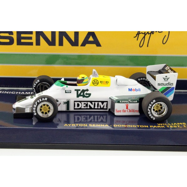 Ayrton Senna Williams Ford FW08C #1 Donington Park Test Formel 1 1983 side view