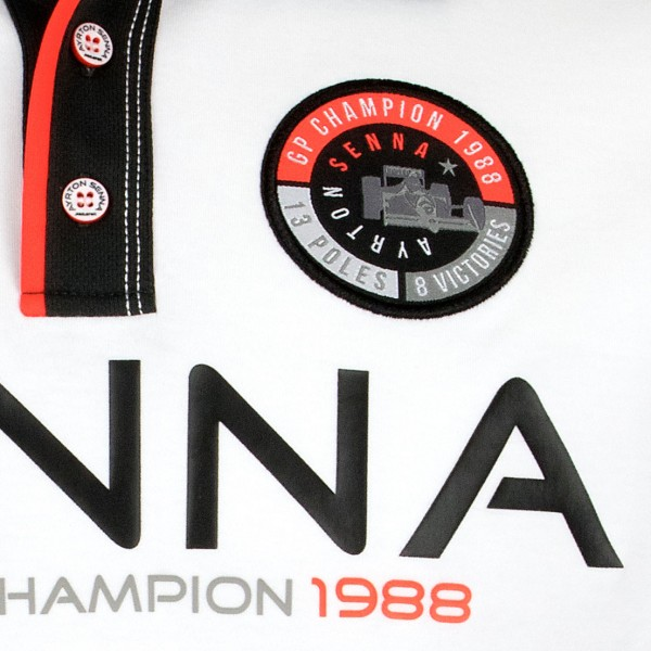 Ayrton Senna Polo-Shirt World Champion 1988