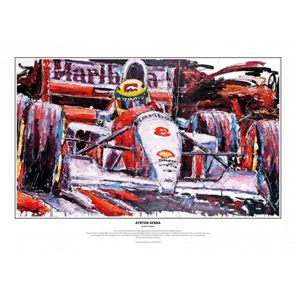 Ayrton Senna Kunstdruck McLaren 1993 von Armin Flossdorf