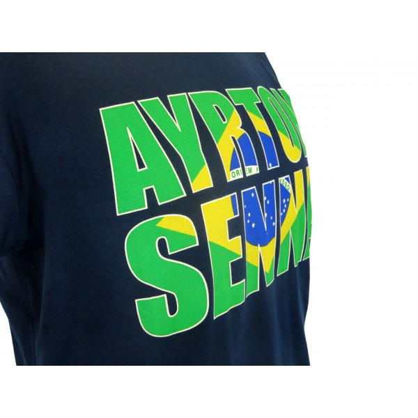 Ayrton Senna T-Shirt Brazil detail