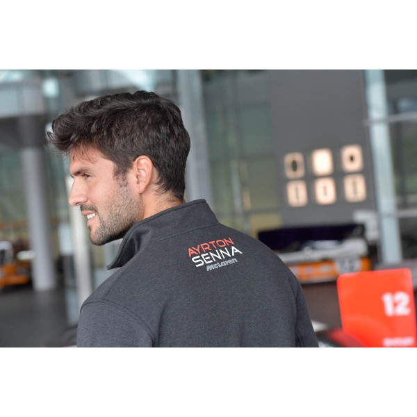 Zip-Sweatshirt Senna Three Times World Champion McLaren Backside
