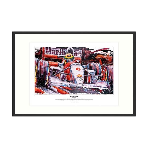 Ayrton Senna art print McLaren 1993 by Armin Flossdorf