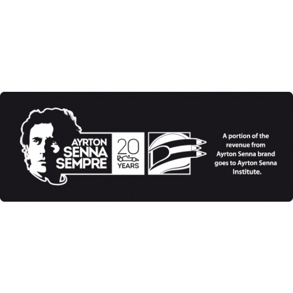 Ayrton Senna Limited Edition Suit 1985 label
