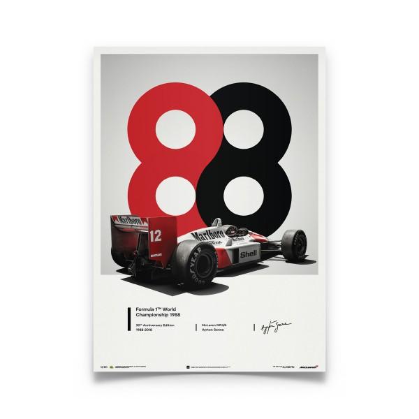 McLaren MP4/4 Ayrton Senna 1988 Poster