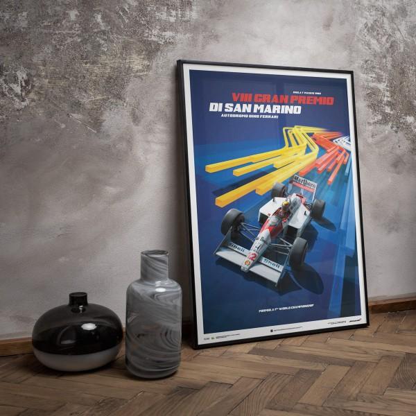 McLaren MP4/4 Ayrton Senna San Marino Poster